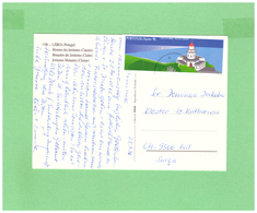 1998 PORTUGAL POSTCARD WITH 1 STAMP TO SWISS - Lettere