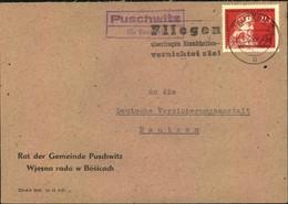 """POSTSTELLENSTEMPEL """"Puschwitz Kr. Bautzen - Covers"""