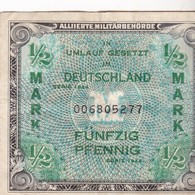 ALLEMAGNE - 1/2 Mark - ALLIIERTE MILITARBEHORDE - 1944 - [ 5] 1945-1949 : Bezetting Door De Geallieerden
