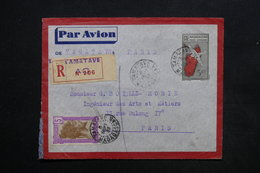 MADAGASCAR - Entier Postal + Complément En Recommandé De Tamatave Pour Paris En 1939 - L 24209 - Madagaskar (1889-1960)