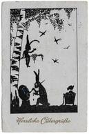 Herzeliche Ostergrüsse - 1930 - Cella - Silhouette - Easter