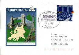 """(FC-6)  BRD Sonder-Umschlag """"EUROPA"""" EF Mi 1986 Aus Block 43 SST 17.10.1998 BERLIN 12 - Ungebraucht"""