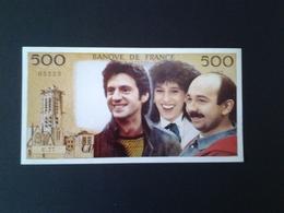 500 FRANCS PASCAL # POUR 100  BRIQUES T'AS PLUS RIEN # - Specimen