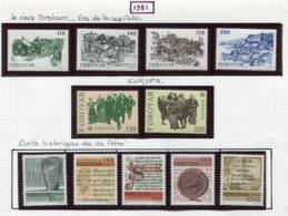 11610  FEROE  Collection Vendue Par Page  N°53/6, 57/8, 59/63 *   1979  TTB - Faroe Islands