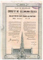 Obligation Ancienne - Ville De Bruxelles 1905 - Titre De 1925 - - Acciones & Títulos