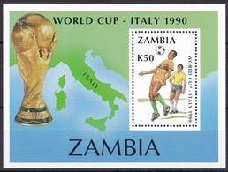 Zambia, 1990, 515/18, Fußball-Weltmeisterschaft, Italien. MNH ** - Zambia (1965-...)
