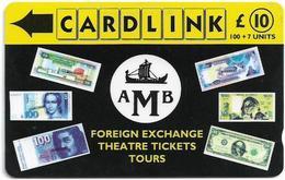UK (Cardlink) - AMB Foreign Exchange Black, 9CLKA, 10.000ex, Used - Ver. Königreich