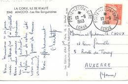 Ponte Leccia Gare Corse 1953 - Storia Postale