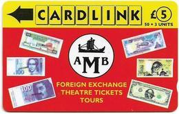 UK (Cardlink) - AMB Foreign Exchange Red, 9CLKB, 10.000ex, Used - Ver. Königreich