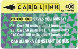 UK (Cardlink) - Jigsaw Design Green, 1CLKE, 10.000ex, Used - Ver. Königreich