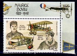 France PA 82 A 2018 Boyau Et Coiffard Avec Haut De Feuille Boyau (feuille De 10) Neuf ** TB MNH Sin Charnela Faciale 3.8 - Poste Aérienne