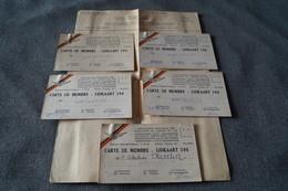 Chemin De Fer,lot De 5 Cartes Anciennes,Guerre Résistants Du Chemin De Fer,Bertrix,originaux - Documents Historiques