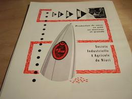 ANCIENNE  PUBLICITE PRODUCTION DE SUCRE SIAN CONGO 1960 - Posters