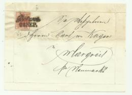 FRANCOBOLLO DA 3 KREUZER BOTZEN   SU FRONTESPIZIO - 1850-1918 Keizerrijk