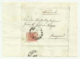 FRANCOBOLLO DA 3 KREUZER BRUNECK   SU FRONTESPIZIO - 1850-1918 Imperium