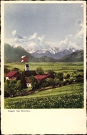 Cp Murnau Am Staffelsee In Oberbayern, Totalansicht Vom Ort, Kirchturm - Autres