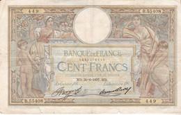 FRANCE 100 FRANCS MERSON  30/06/1937 - 1871-1952 Anciens Francs Circulés Au XXème