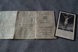 Cortenberg,avis Mortuaire Avec Carte D'identité,Louis Vanderseypen 1937,superbe Lot - Décès