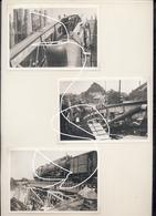 JL 1 Charleroi. Mai 1940 Ponts Détruits Et Reconstruits. Chemin De Fer.2e Guerre  Locomotive. Repros - 1939-45
