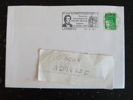 LAMBESC - BOUCHES DU RHONE - FLAMME 1er JOUR TIMBRE FRANCO POLONAIS CHOPIN SUR MARIANNE LUQUET - Marcophilie (Lettres)