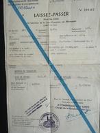 Laissez Passer à L Intérieur De La Zone Française En Allemagne éditée à Baden Baden Le 24.05.47 - Stamps