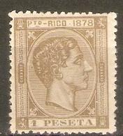 PUERTO RICO 1878 EDIFIL  22* NUEVO - Puerto Rico