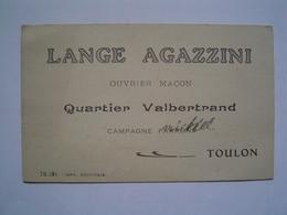 CARTE VISITE : AGAZZINI / MACON / QUARTIER VALBERTRAND / TOULON - France