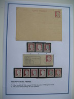 Marianne De Decaris  N° 1263  1960 - Entier Postal - Tête Mauve / Blanche / Gris Foncé / Rose - Nuevos