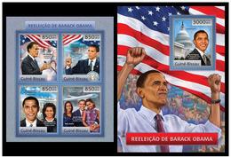 Guinea Bissau 2012 Barack Obama Klb+s/s MNH - Persönlichkeiten