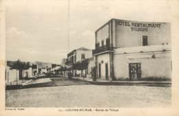 ALGERIE COLOMB BECHAR ENTREE DU VILLAGE HOTEL RESTAURANT D'EUROPE - Algérie