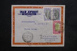 COTE DES SOMALIS - Enveloppe De Djibouti Pour Paris En 1938 Par Avion, Affranchissement Plaisant - L 24236 - Côte Française Des Somalis (1894-1967)