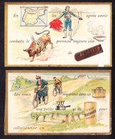 LOT DE 2 CHROMOS Chocolat SUCHARD   +/- 1895    Serie 45   Rébus         Trade Cards - Suchard