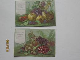 LE/AJ : 2 Chromos M.Albert à Nantes - Natures Mortes Aux Fruits  -1890-1900 - Cromos