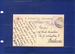 ##(DAN193)- ITALY- 1916 -Cartolina In Franchigia R.Esercito Ospedale Da Campo 231 III Armata Per Salerno - 1900-44 Vittorio Emanuele III