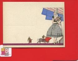 Superbe Carton Table Illustré Signé Velvet Technique Pochoir Finement Doré  ART DECO Corrida Taureau Jeune Femme - Andere