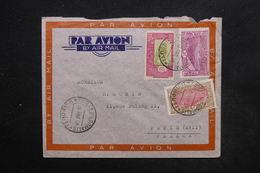 COTE DES SOMALIS - Enveloppe De Djibouti Pour Paris En 1938 Par Avion, Affranchissement Plaisant - L 24238 - Côte Française Des Somalis (1894-1967)