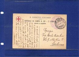 ##(DAN193)- ITALY- 1919 -Cartolina In Franchigia R.Esercito Ospedale Da Campo 231 2^ Armata Per Salerno - 1900-44 Vittorio Emanuele III