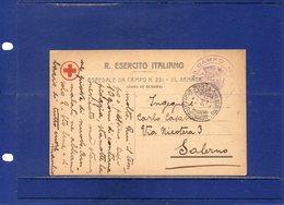 ##(DAN193)- ITALY- 1916 -Cartolina In Franchigia R.Esercito Ospedale Da Campo 231 III Armata Per Salerno - Poste Militaire (PM)