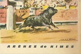 30 NIMES TICKET ENTREE FERIA 1962 CORRIDA TOROS TAUREAUX MATADORS ORDONEZ MONDENO LEAL TAUROMACHIE - Tickets D'entrée