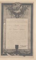 MILITARIA CITATION A L ORDRE DE L ARMEE LE GENERAL MAISTRE 149 EME REGIMENT D INFANTERIE - Guerra 1914-18