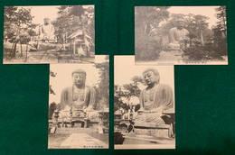 JAPAN - Daibutsu At Kamakura - 1900-1910's - 4 Cards - Japon