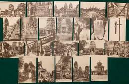 Cambodge - 1900-1910's - 22 Cartes - Cambodge