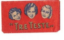 LAMETTA DA BARBA - TRE TESTE ROSSA  0.13  -   ANNO 1930/40  - - Lamette Da Barba
