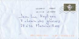"""2018 : Timbre Postal Adhésif """"Théière, Russie, Moscou"""", Seul Sur Lettre - 1961-...."""