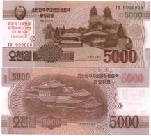 Korea North - 5000 Won 2017 UNC SPECIMEN 0000000 Comm. Lemberg-Zp - Corée Du Nord