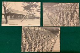JAPAN - Kyoto Sanjyusangendo - 1900-1910's - 3 Cards - Japon