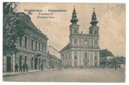 RO 995 - 15141 DUMBRAVENI, Sibiu, Market, Romania - Old Postcard - Used - 1913 - Roemenië