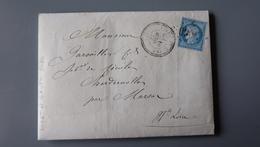 Lettre Cachet LIVET Et GAVET, GC2060, De 1873 .................... MK-2277 - Marcophilie (Lettres)