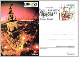 EXPO'92 - Tarjeta Entero Postal. Primer Dia - First Day 1992 - 1992 – Sevilla (España)