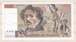 100 Francs Delacroix 1987 Série M.127 N° 184975. Billet Neuf. - 1962-1997 ''Francs''